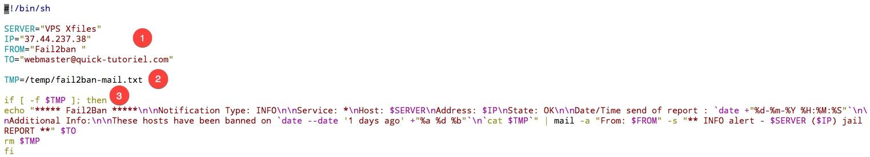 Créer un rapport journalier avec les adresses IP qui ont essayés de hack ton serveur
