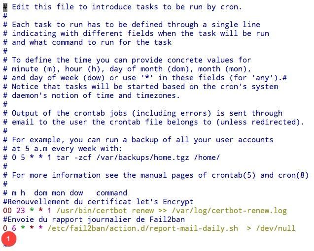 Créer une tâche CRON sous ubuntu pour envoyer un rapport journalier des attaques recensées par Fail2ban