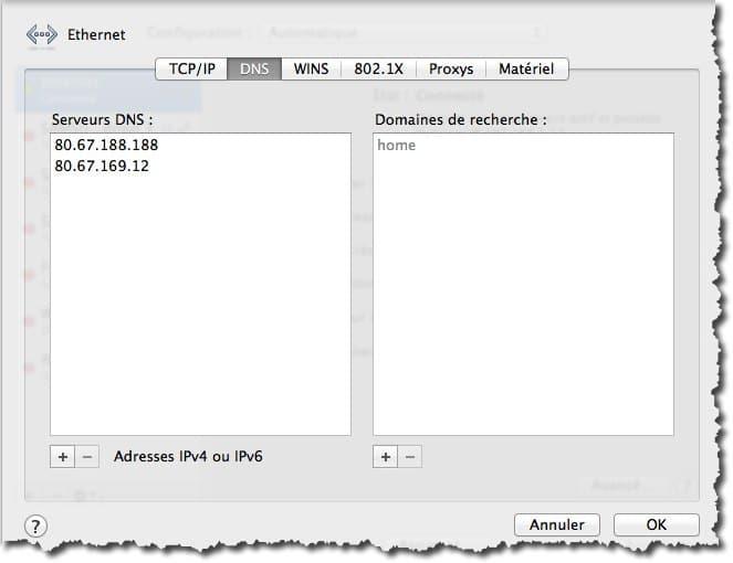 Changer ses serveurs DNS sous Mac
