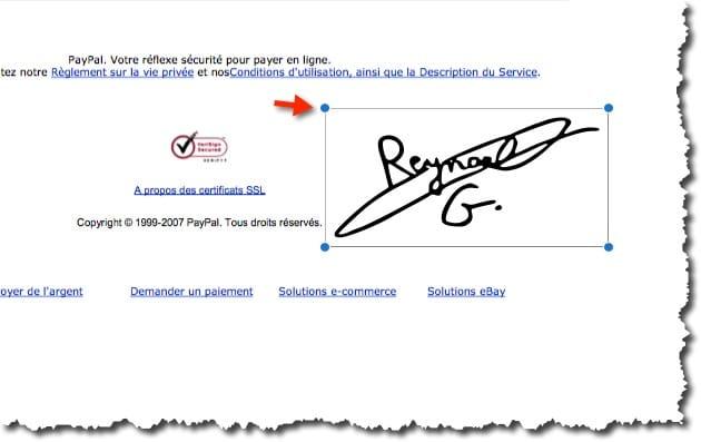 apposer sa signature dans un document PDF avec aperçu