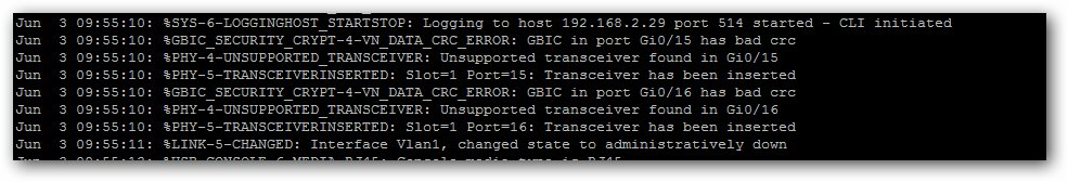 Résoudre l'erreur UNSUPPORTED_TRANSCEIVER sur un switch Cisco.