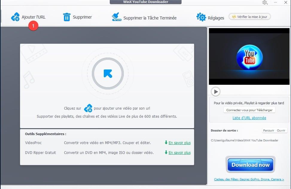 Télécharger une playlist ou une vidéo YouTube avec WinX Youtube Downloader