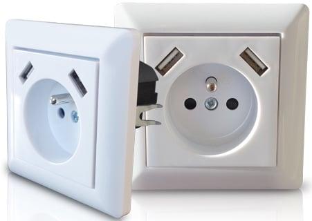 Prise électrique murale 2 USB