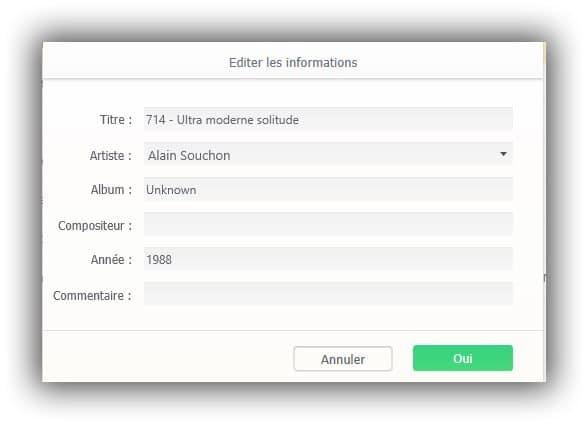 éditer les tags des fichiers MP3 avec WinX MediaTrans