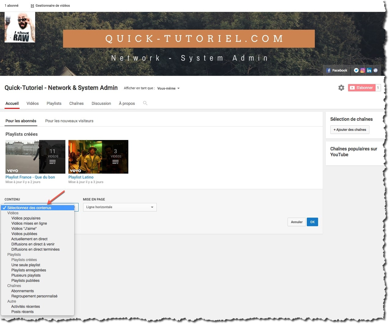 Visiter la chaine Youtube du blog Quick-Tutoriel.com
