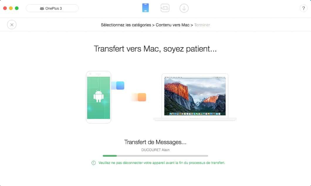 Anytrans pour Android transfert de données