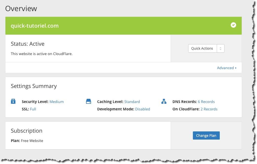 test serveur DNS Cloudflare