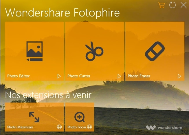 wondershare fotophire modules