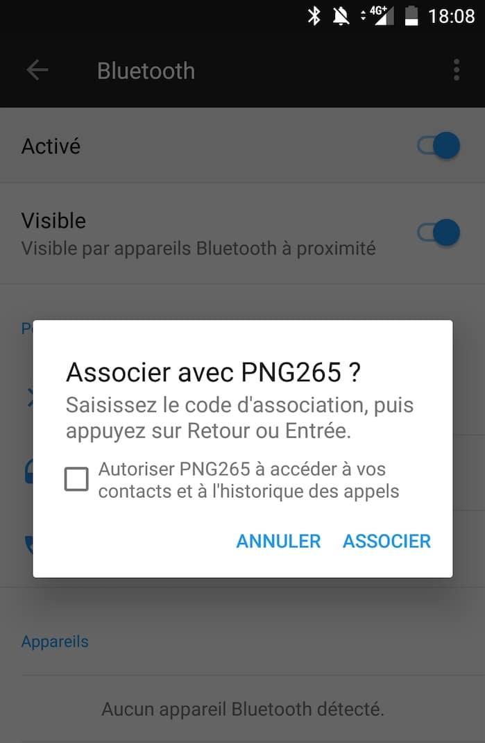 associer les écouteurs bluetooth Plug N Go Sports sous Android