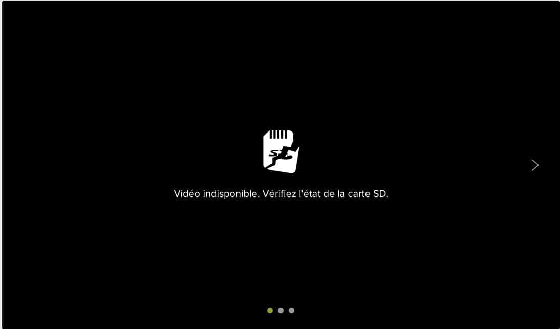 Vérifiez l'état de la carte SD de la caméra Welcome