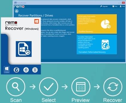 logiciel de récupération de données Remo recover pour Windows