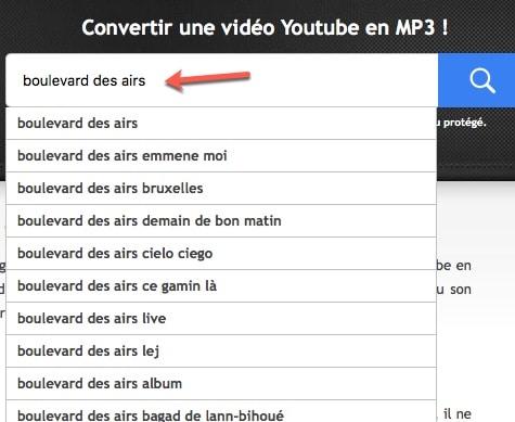 Autre méthode de téléchargement depuis Convertir-youtube-mp3.com