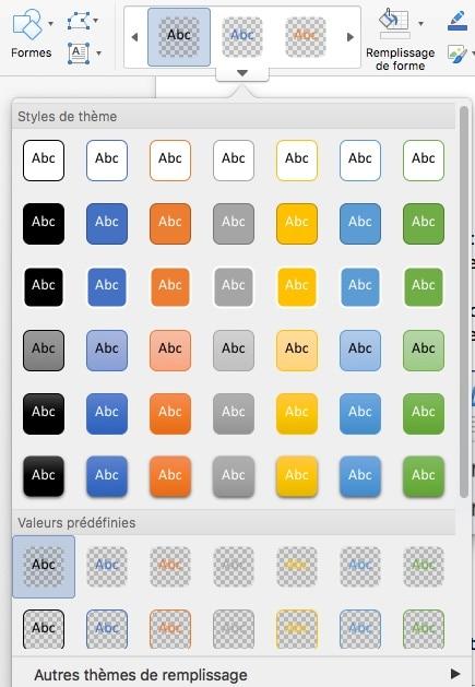 appliquer un style prédéfini à un texte dans Word sous MAC