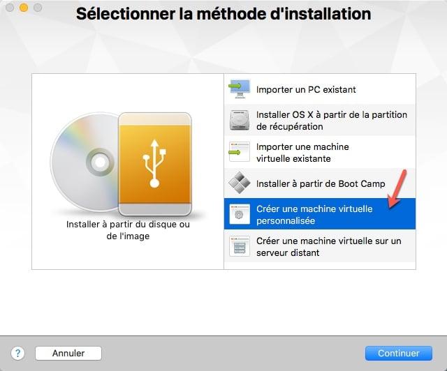 Préparation de la VM pour Ubuntu avec VMware Fusion