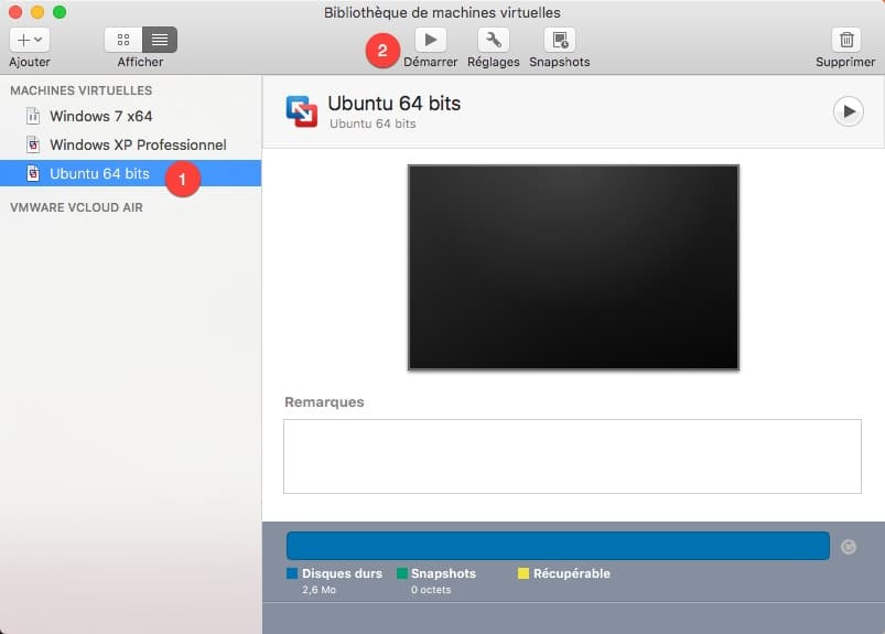 Installation de Ubuntu sur une VM avec VMware Fusion