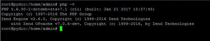 connaitre sa version de php avec la commande php -v