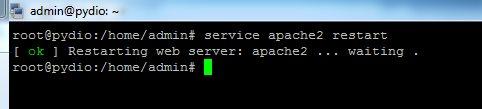 redémarrer le service apache sur Debian
