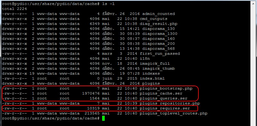 modification des droits sur des fichiers dans une instalaltion de Pydio