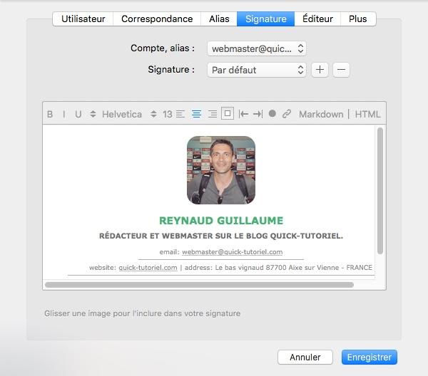 Incorporer votre signature MySignature.io dans Airmail sous MAC