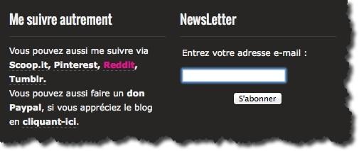 formulaire d'abonnement à votre newsletter sans plugin de FeedPress