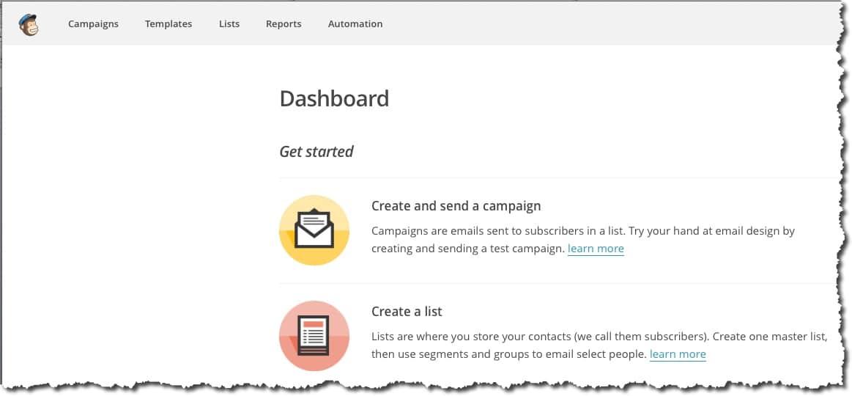 gérer une newsletter avec Mailchimp