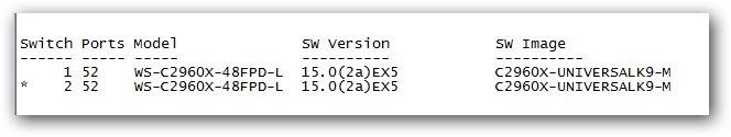 Affichage des statistiques sur les ports de stack d'un switch Cisco.