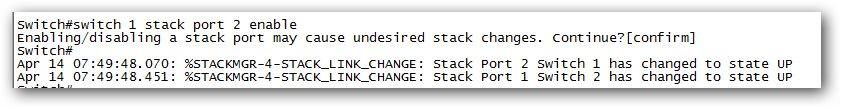 Réactiver le port stack d'un switch Cisco