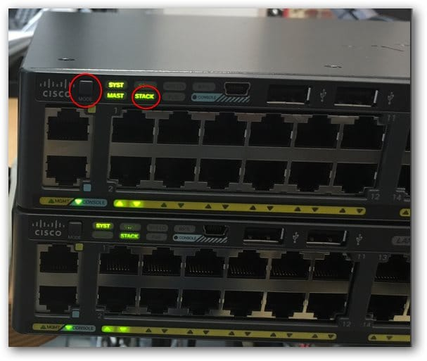 Connaitre l'ordre physique des switchs dans un stack Cisco grâce au bouton mode