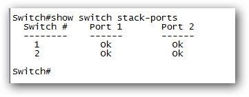 Affichage des statistiques sur les ports de stack.
