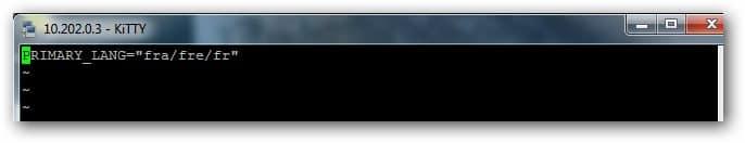 modifier le fichier usersettings du boitier Amino A140 pour changer la langue de l'interface