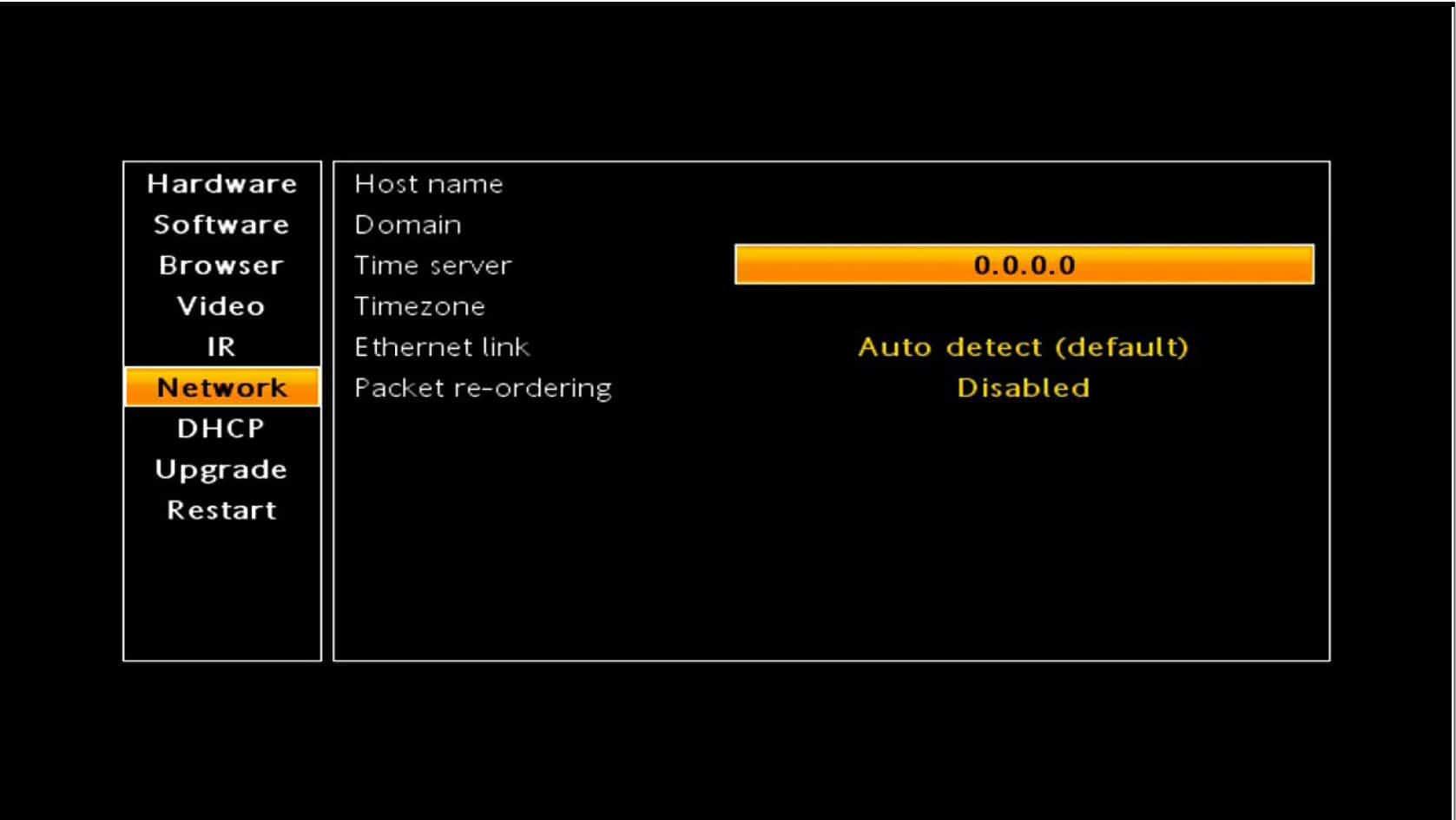 Paramétrer un serveur NTP sur le boitier Amino A140