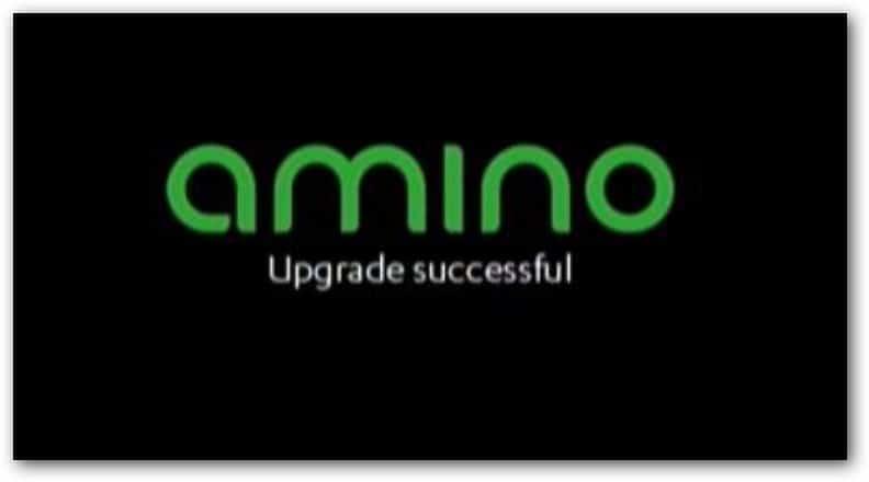 Procédure de mise à jour du firmware du boitier Amino A140
