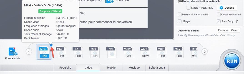 Comment encoder une vidéo GoPro 4K HEVC en codec H264 avec VideoProc