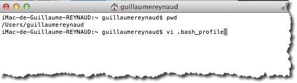 créer un alias d'une commande sous MAC