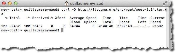 Installer WGET avec la commande CURL sous MAC