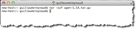 extraire les fichiers de l'archive WGET sous MAC