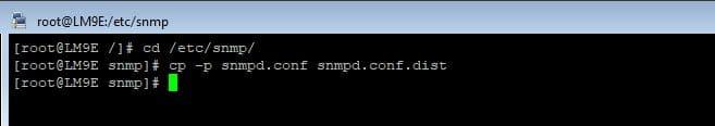Sauvegarde du fichier snmp.conf sous RedHat