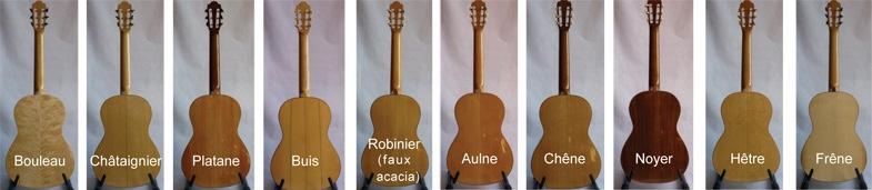 Les différents bois pour une guitare