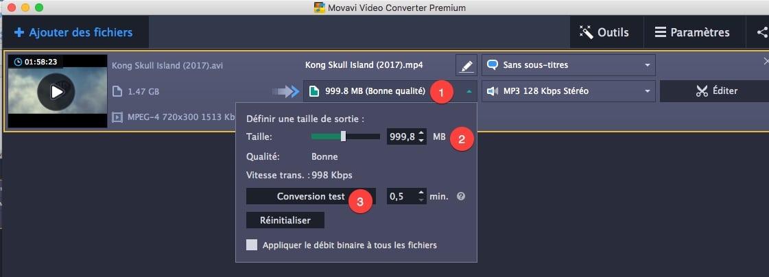 Diminuer le débit binaire de votre vidéo dans Movavi Video Converter