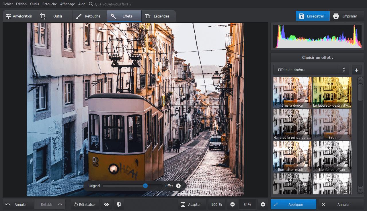 Appliquer des effets en 1 clic sur votre photo avec PhotoWorks