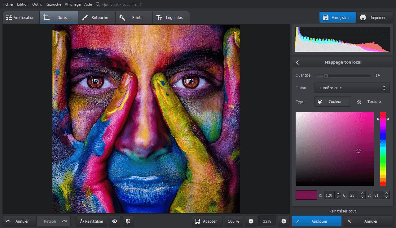 Utiliser le mappage ton local pour styliser vos photos avec des effets de couleur avec PhotoWorks