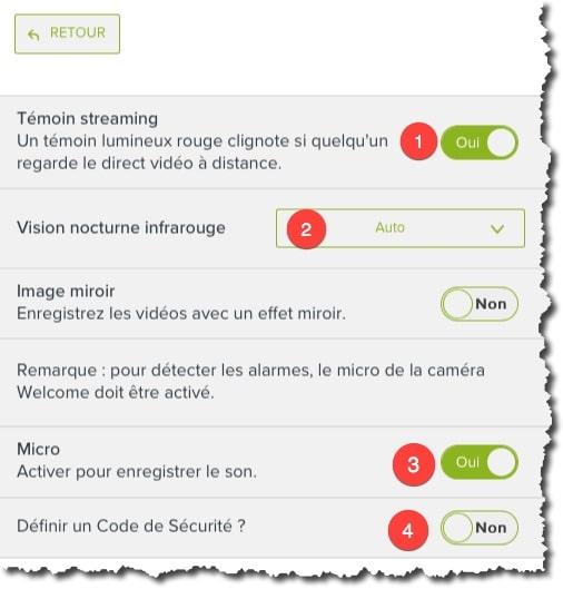 Les paramètres importants de votre caméra Netatmo Welcome
