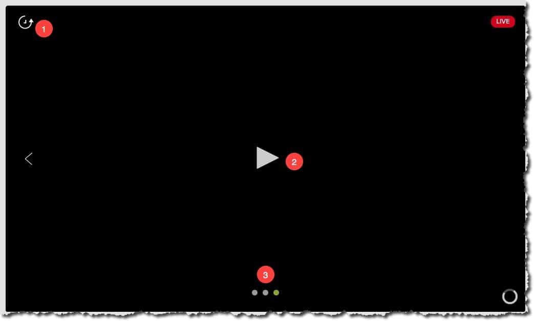 Option de visualisation sur l'écran de streaming sur votre caméra Netatmo Welcome