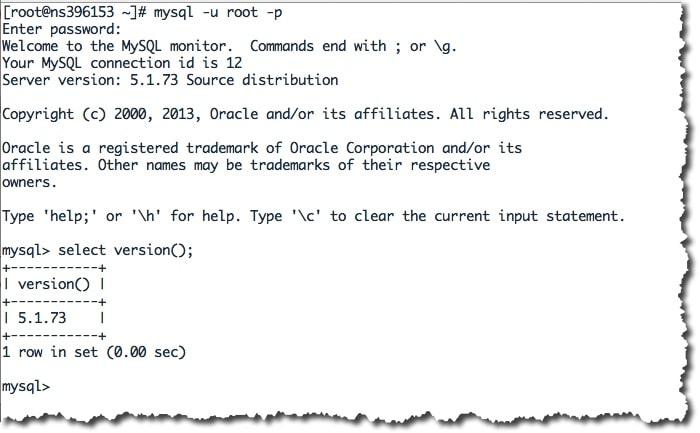 Tester l'accès à la base MySQL sous CentOS