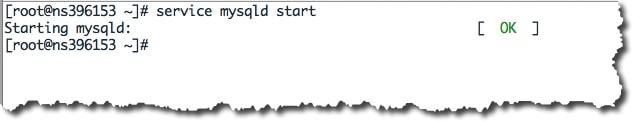 Démarrer le service MySQL sous CentOS