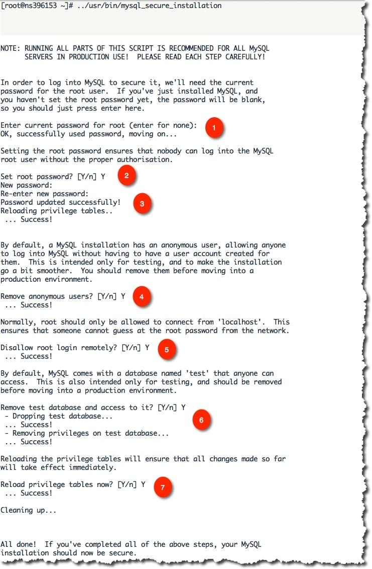 Sécuriser l'instalaltion de MySQL grâce au script mysql_secure_installation