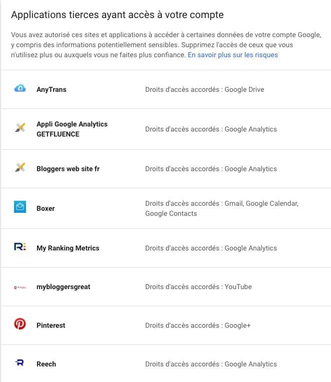 Applications et données, éradiquez les espions aux grandes oreilles de votre compte Google.