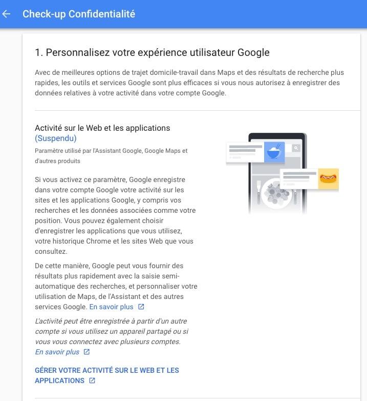 Paramètres de confidentialité, maitrisez les données privées que vous donnez à Google