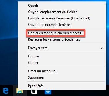 Récupérer facilement le chemin d'accès d'un fichier sous Windows