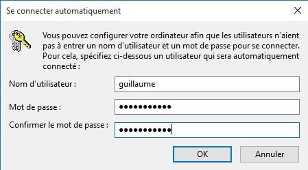 Démarrer une session automatiquement sous Windows avec l'utilitaire netplwiz
